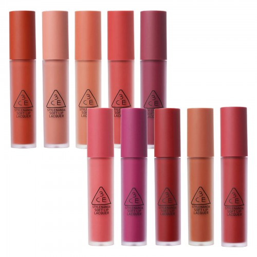 3ce soft lip lacquer 3 kinds